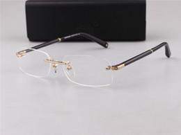 ab4a6499966 MB Brand New Eye 150 Glasses Frames for Men frameless Glasses Frame Gold  Silver TR90 Optical Glass Prescription Eyewear Full Frame