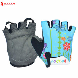Wholesale Fingerless Gloves Boys - Boys Girls Cycling Gloves Half Finger Children Summer Bicycle Gloves Guantes Ciclismo MTB Mountain Sports Bike Gloves Mittens Cartoon Color