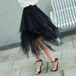 2019 Faldas de verano Moda para mujer Elástico Cintura alta Tutu Falda  Falda plisada Faldas largas Falda midi Saias Faldas Jupe Femme 610b92726204