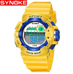 Répétition de montres-bracelets en Ligne-SYNOKE Sport Montre Enfants Garçon Fille Numérique 30 M Étanche Alarme Calendrier Enfants Montre-bracelet relogio LED Répéteur Horloge
