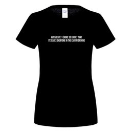 Wholesale Funny Drives - Funny - Apparently I Snore So Loudly That It Scares Everyone In The Car I'm Driving T-Shirt