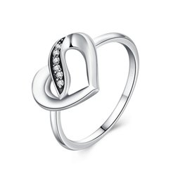 Wholesale pandora ribbon - Authentic 925 Sterling Silver Ribbons Of Love, Clear CZ Finger Ring Engagement Jewelry Pandora Rings Valentine's Day gift