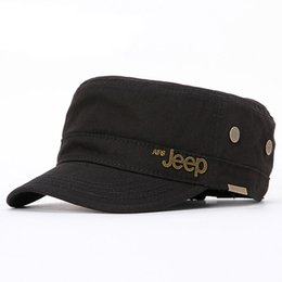 flat head fish Coupons - 2017 New Jeep Copper Flat Head Hat Outdoor Leisure Sports Cap Breathable Men And Women General Fishing Hat Msapo -9014