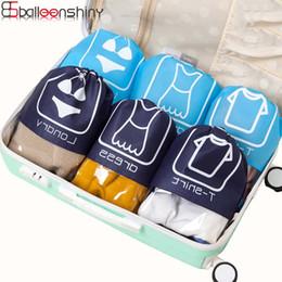 Wholesale Pc Vaccum - Balleenshiny 10 pcs set Storage Bag Travel Organizer Non-Woven Drawstring Bag Pouch For Shoes Laundry Clothes Sort Rangement