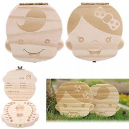 2018 дети мальчик девочка зуб коробка детские зубы коробки организатор детские дети сохранить молочные зубы коллекция коробка хранения древесины Новый год подарки от
