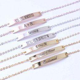braccialetto nome d'oro Sconti Sainio Personalized Bar Braccialetti Custom inciso Nome Data Bracciale oro nastro oro rosa iniziali iniziali braccialetti regalo gioielli delle donne