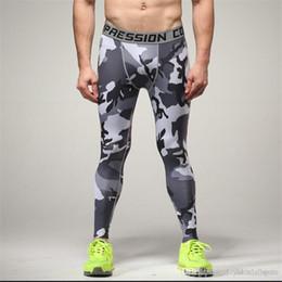 Canada 2018 Hommes Compression Pantalon Collants Casual Bodybuilding Mans Pantalon Slim Marque Camouflage Armée Vert Skinny Leggings Plus La Taille cheap compression pants green Offre