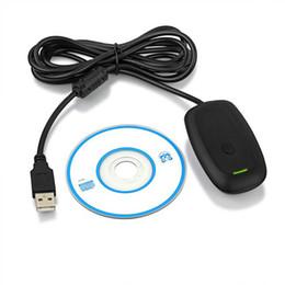 2019 xbox controlador pc inalámbrico Para Xbox360 Nueva Negro / Blanco PC USB Gaming Receiver Para Microsoft Xbox 360 Wireless Controller Soporte Win 7 8 10pcs DHL Gratis xbox controlador pc inalámbrico baratos