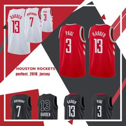 ee9295a48 2018 New Youth Men s 13 James Harden 3 Chris Paul Jersey Kid s 2018 Mens  stitching Jerseys Adult Basketball Jerseys Top sales