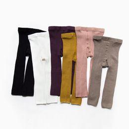 Nuevo otoño invierno bebé infantil doble aguja legging pantalones niño nueve puntos pantyhose moda niños polainas desde fabricantes