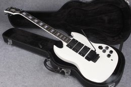 Wholesale Floyd Rose White - Factory Chibson SG 3 EMG pickups electric guitar white angus young SG guitar Floyd rose system Free Shipping