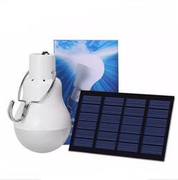 Wholesale Street Light Panel - led Solar Lamp Powered Portable Led Bulb Lamps Energy Lamp led Lighting Solar 1.5w Panel Camp Night Travel Used 5-6hours