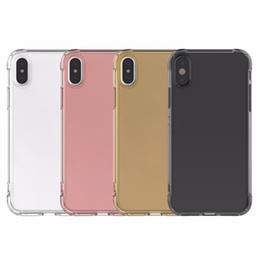 Wholesale Air Sound - 2018 Air cushion shockproof gel tpu sound switching speaker transparent phone case anti shock cover for iphone x 6 7 8 plus s8 R11