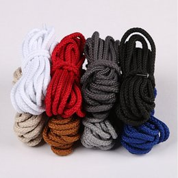 Wholesale Polyester Shoelaces - Wholesale Round Athletic Thick Shoe String High Quality Unisex Shoelace For Sneaker Boots Solid Color Shoelaces
