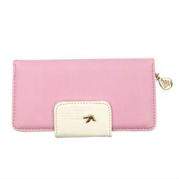 Wholesale korean wallet phone case - Long 2018 Card Case Soft Leather Mini Long Clutch Purse Women Leather Women Wallet Trendy Money Clip Female Leisure