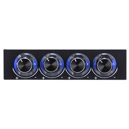 Wholesale Blue Led Fan Case - 3.5 inch Fan Speed Controller STW-6002 PC Case Floppy Position 4 -Channel Blue LED Speed Fan Controller Control Cooling