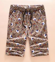 Wholesale harem pants unisex - New Arrival Men's Shorts pants Casual Summer Fashion male printing brand Unisex Beach pants G4236