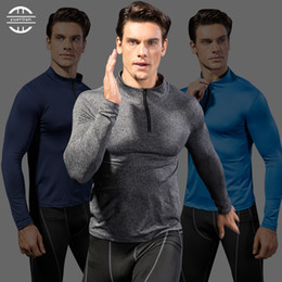 Wholesale Sports Full T Shirts - 2017 Men's Running T Shirts Tee Active Long Sleeves Rashguard Workout GYM Training Jersey Yoga Sports Clothing Size S-2XL