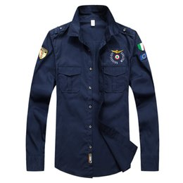 Wholesale military clothing man - New Designer Top Quality Embroidery Men 'S Brand Clothing Men Shirts Brand Polo Homme Diamond Fashion Aeronautica Military Clothing
