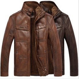 Wholesale Trench Coat Warm Liner - winter men's warm Genuine Leather fur lining jacket coat outwear trench padded