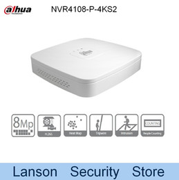 Wholesale Dahua Network Video Recorder - Dahua 4K NVR4108-P-4KS2 Original Egnlish Version 8 Channel Smart 1U 4PoE 4K&H.265 Lite Network Video Recorder