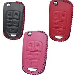 Cuero Flip 5button Key Fob Remote Case Accesorios para Chevrolet Equinox Camaro Cruze Malibu Sonic Buick Lacrosse Verano Encore desde fabricantes