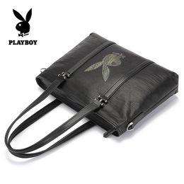 Wholesale Black Portfolio - Playboy handbag briefcase for laptop business bags package men's briefcase portfolio male men's bag hommes porte-documents PU
