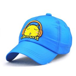 Летние наушники онлайн-XEONGKVI Spring Summer Kitten Headphones Baseball Cap  Snapback Cotton Hats For Boy And Girl Quick-drying Cap Casquette