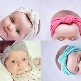Wholesale Sweet Lovely Girls - Newborn Baby Headband High Elasticity Lovely Multicolor Children Hair Accessories Headband Bowknot Baby Girl Sweet Cotton