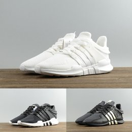 Wholesale cheap casual boots - Cheap Original Adidas EQT Support ADV 2018 Women Men Running Shoes Black White Sports Sneakers Top Boots Casual shoe mens 36-45
