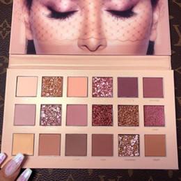 Argentina CALIENTE belleza paleta de maquillaje Nueva NUDE 18 colores paleta de sombra de ojos brillo mate Alta calidad envío libre de DHL Suministro