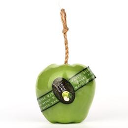 2019 ätherisches öl apfel Nette 3D natürliche Apple-Frucht-wesentliches Öl-handgemachte Seifen-Reinigungs-Waschseife zarte weiß werdene Haut günstig ätherisches öl apfel