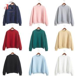 Wholesale Tracksuit Fleece Girls - 2017 Casual Hoodies Sweatshirt Women Hoodie Long Sleeve Tops Tees Girls Fleece Autumn Winter Sweatshirts Tracksuit for Women