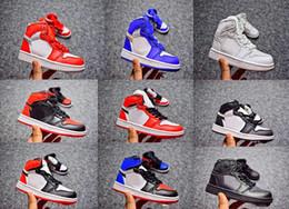 quality design 09a08 0d309 2019 kinder retros Kinder 1 Basketball-Schuhe Kinder Sneakers Top 3 Schwarz  Weiß Rot Hochwertige