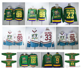 Maillot goldberg en Ligne-Mighty Ducks 96 Charlie Conway Jersey 99 Adam Banks Anaheim Film 66 Gordon Bombay 21 dean portman 33 goldberg 9 Chandails de hockey Paul Kariya