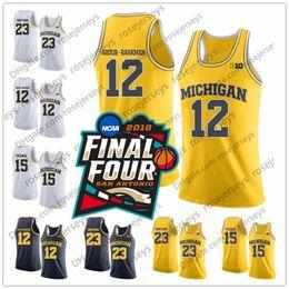 basketball gelb trikot 24 Rabatt NCAA Michigan Wolverines Nr. 12 Muhammad-Ali Abdur-Rahkman 24 CJ Baird 32 Luke Wilson 44 Jaron Faulds weiß blau navy gelb Basketball Jersey