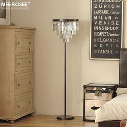 Wholesale Floor Standing Candelabra - Vintage Crystal Floor Lamp Lustres Floor Stand Light Fixture Cristal Candelabra Standing Lamp High Quality Lighting