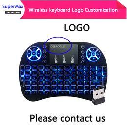 Logo özelleştirme 2.4 GHz mini Kablosuz QWERTY Klavye Touchpad HTPC PS3 Xbox360 dizüstü telefon için Daha fazla dil ile nereden