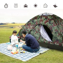 pop up bags Australia - 2019 2 Person Waterproof Camping Tent Outdoor Sport Fishing Single Layer Pop Up Anti UV Tourist Tent For Wigwam Beach Hunting + Bag