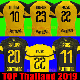 274335153f550 borussia jersey Desconto TOP Tailândia BVB Borussia Dortmund camisa de  futebol 2019 PHILIPP GOTZE REUS JOELHO