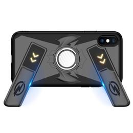 iphone capas Desconto Jogo multifuncional lidar com casos de telefone para iphone x 8 7 6 6 s além de capa de silicone macio + pc à prova de choque case + anel de dedo kickstand