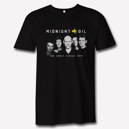 Argentina Midnight Oil The Great Circle 2017 Tour Apparel logo Camiseta negra 2018 Moda de verano Camiseta de manga corta de algodón para hombre Suministro