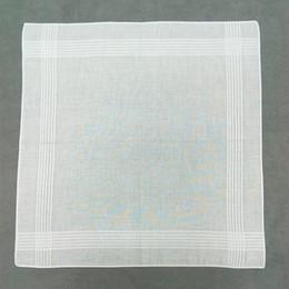 reine lila brautkleider Rabatt 100% Baumwolle Taschentuch Weiß Hanky Einstecktücher Hanky 40cm * 40cm