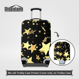 Wholesale Road Covers - Travel On Road Luggage Protective Covers For Women Gold Stars Printing Elastic Dust Rain Suitcase Cover For 18-30Inch Trolley Case Wholesale