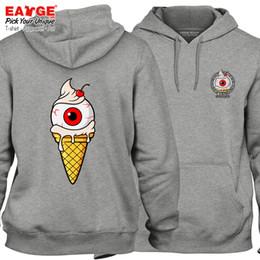 c746848fd21 La crème glacée à la vanille m apporte de la chance Hoddies Pop Design  Imprimer Pull zombie design de bande dessinée inhabituelle Punk Hip Hop  Unisexe ...