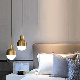 luces colgantes de noche Rebajas Luces colgantes danesas modernas Loft viento industrial Minimalista moderno Mini luz colgante Dormitorio Lámpara de noche