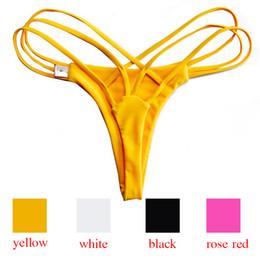 damen schwimmen shorts Rabatt 2018 Sexy Frau Bikini Bottoms Bademode Schwimmen Shorts Bademode Weibliche Mayo Strand Tragen Damen Hipster Briefs Ausgeschnitten Thong 20pcs