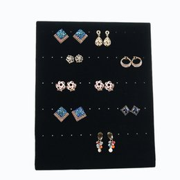 Wholesale Pin Stores - 2018 Free Shipping Trumpet Display Shelf Board Pin Ear Ring Jewelry Display Stand Earring Holder Jewelry Box Store Shelf