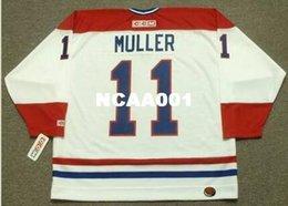 Wholesale vintage canadiens jersey ccm - Mens #11 KIRK MULLER Montreal Canadiens 1993 CCM Vintage Throwback Home Hockey Jersey or custom any name or number retro Jersey