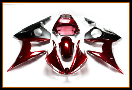 Wholesale injection yamaha r6 - Gloss Red Black Fairing ForYamaha YZF-600 R6 2003 - 2005 Motorcycle Bodywork High Quallity YZF-600 R6 03 04 05 Hulls Plastic Motorbike Cover